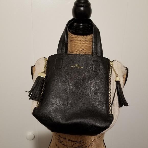 Kate Landry Handbags - Kate Landry small black & cream tote